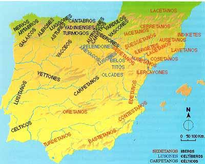 Distribución de los pueblos prerromanos en la Península Ibérica